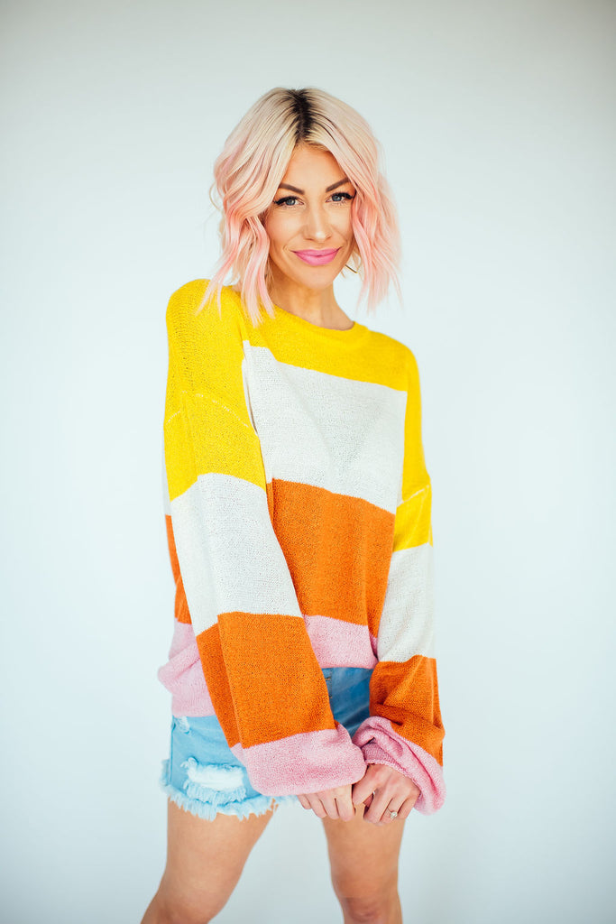Sherbet Striped Knit