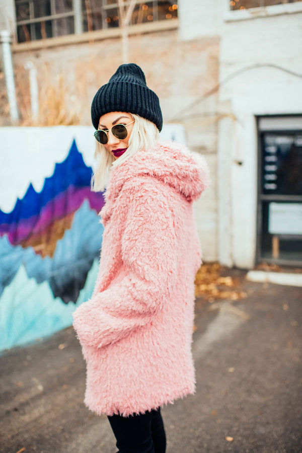Blush Teddy Coat