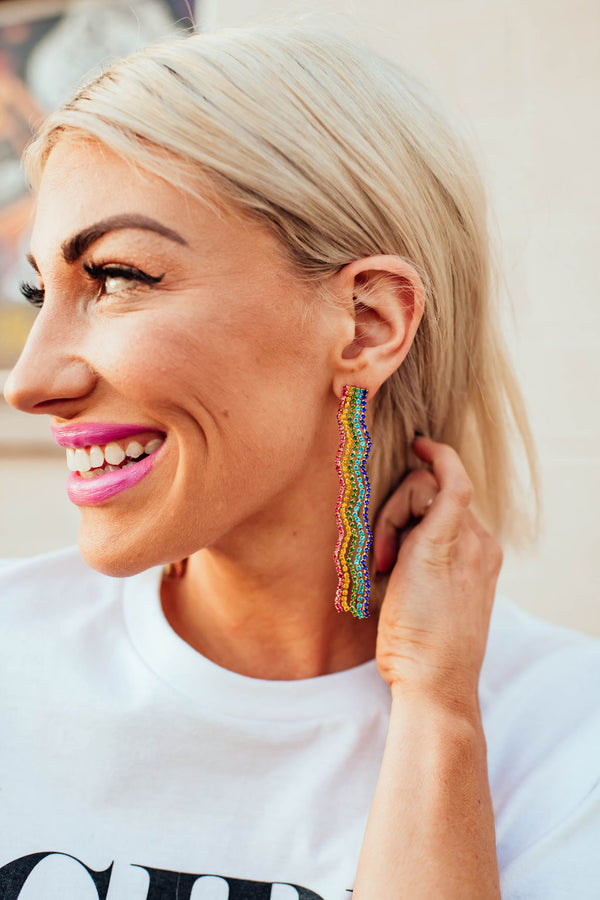 Glam Rainbow Earrings