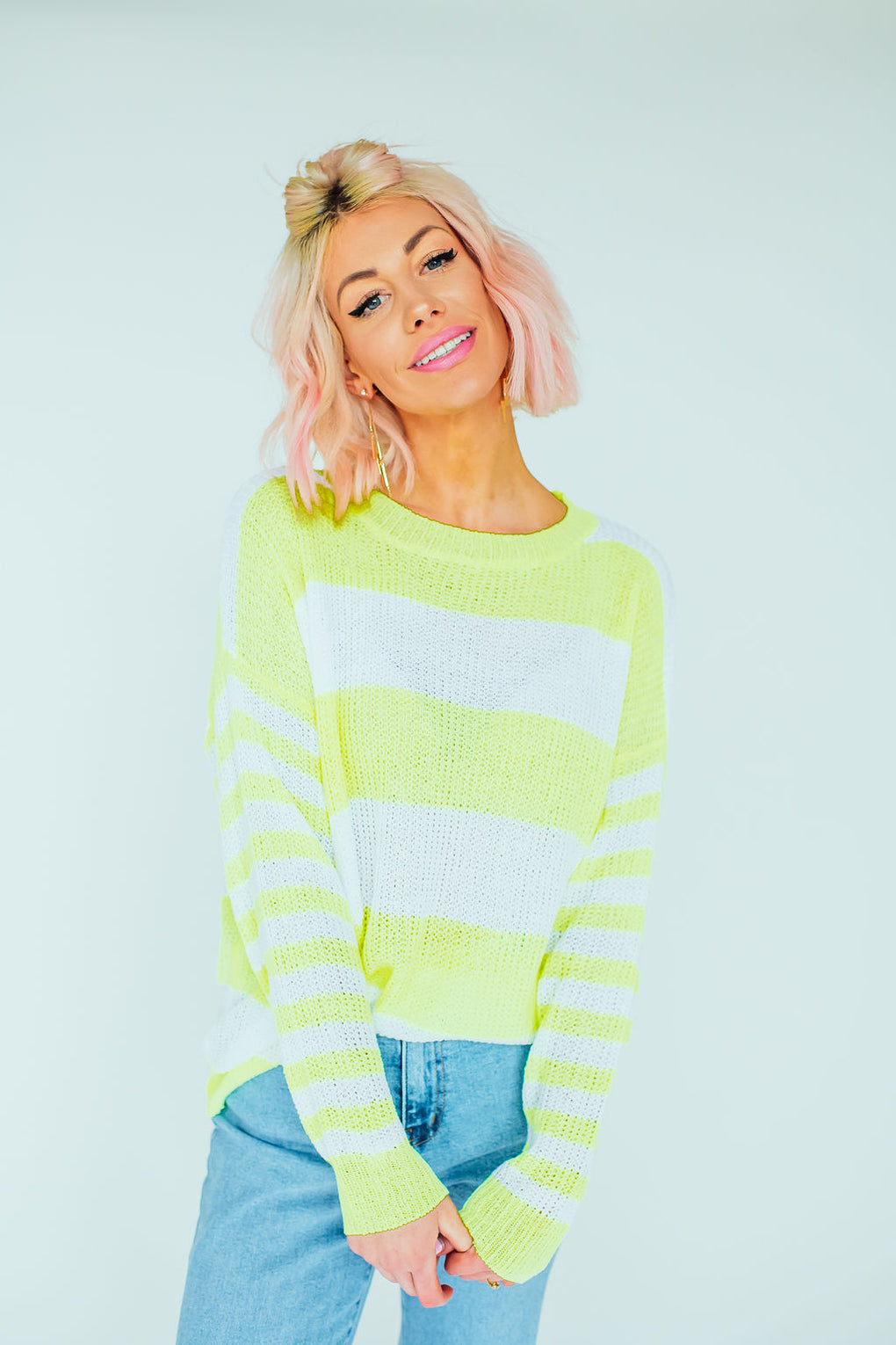 Neon Babe Striped Knit