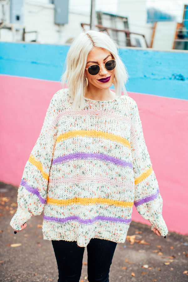 Cotton Candy Confetti Sweater