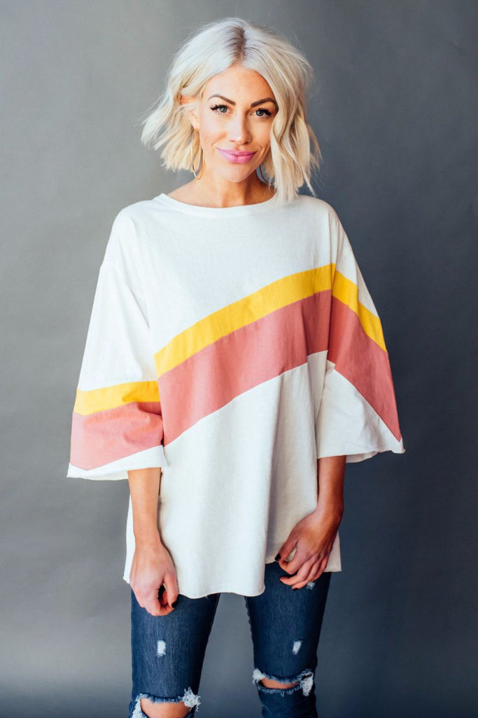 Sunset Boulevard Oversized Top