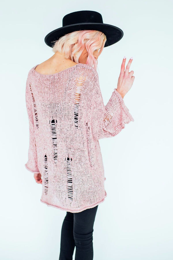 Ollie Oversized Distressed Knit