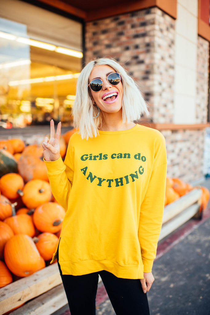 Girls Can Do Anything Pullover