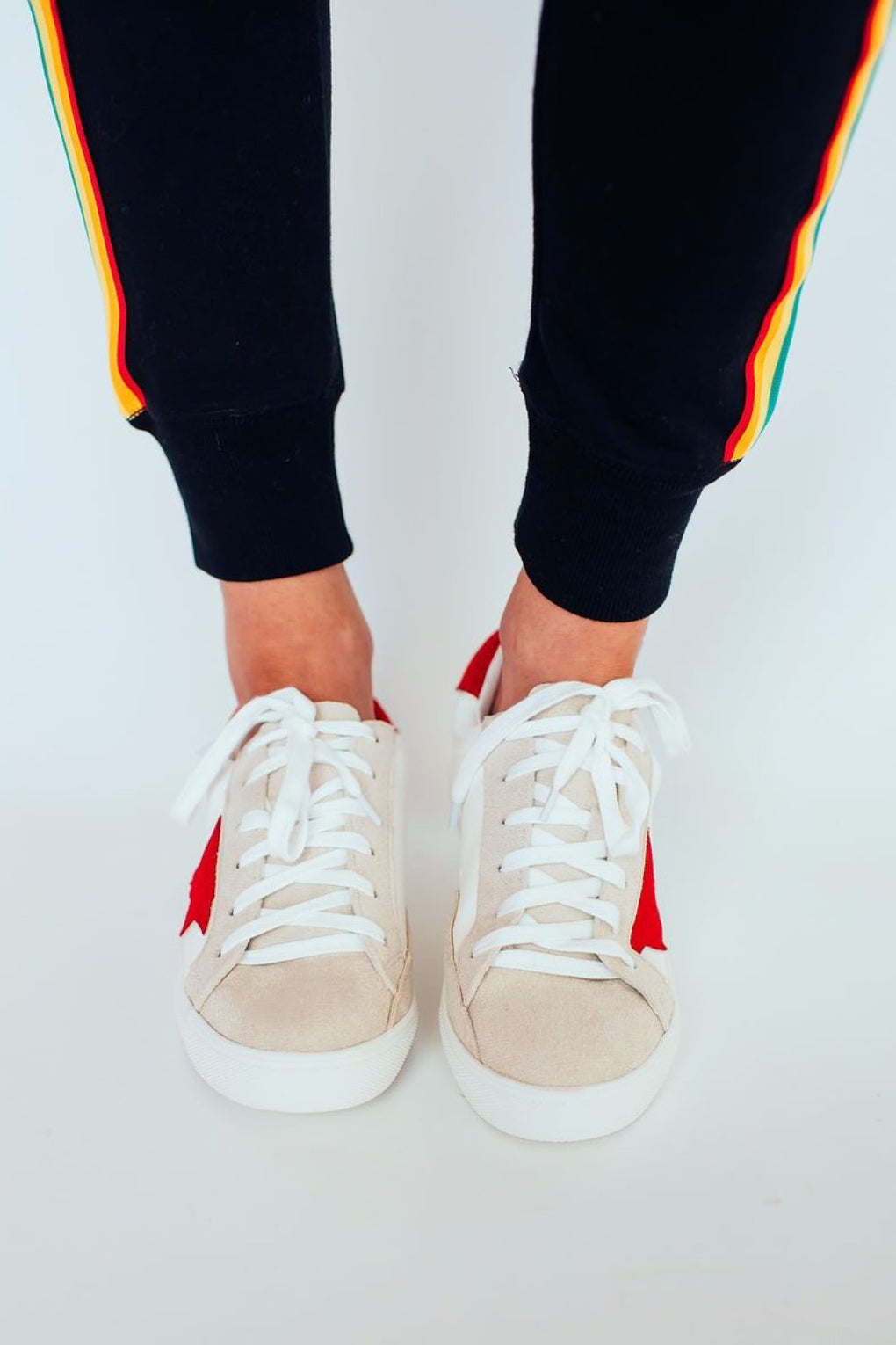 Golden Girl Red Sneakers