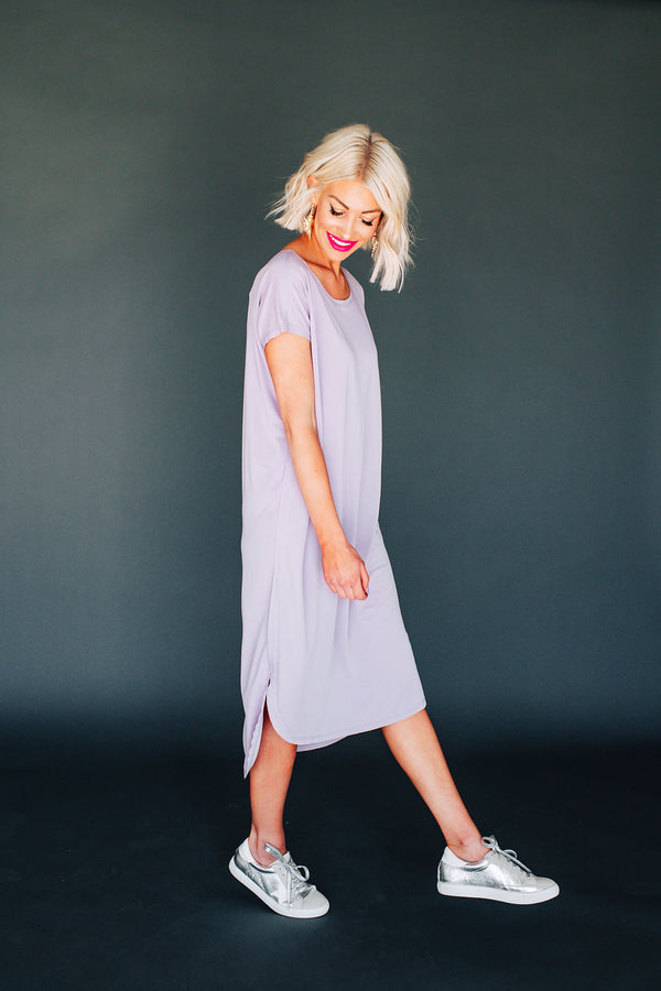 Obsessed Lavender T-Shirt Dress