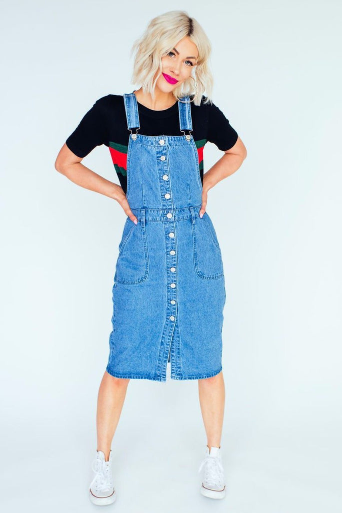 All You Need Denim Overall Dress
