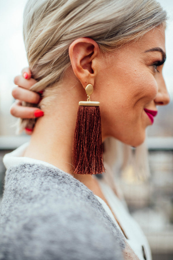 Brooklyn Brownstone Tassel Earrings