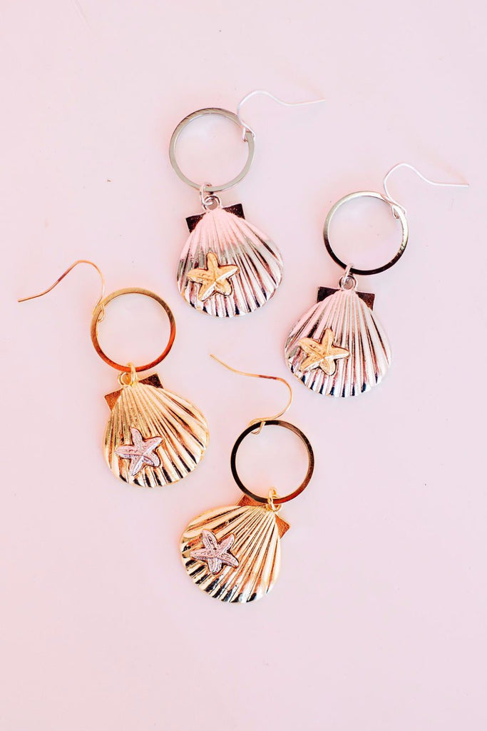 Seashell Secret Drop Earrings