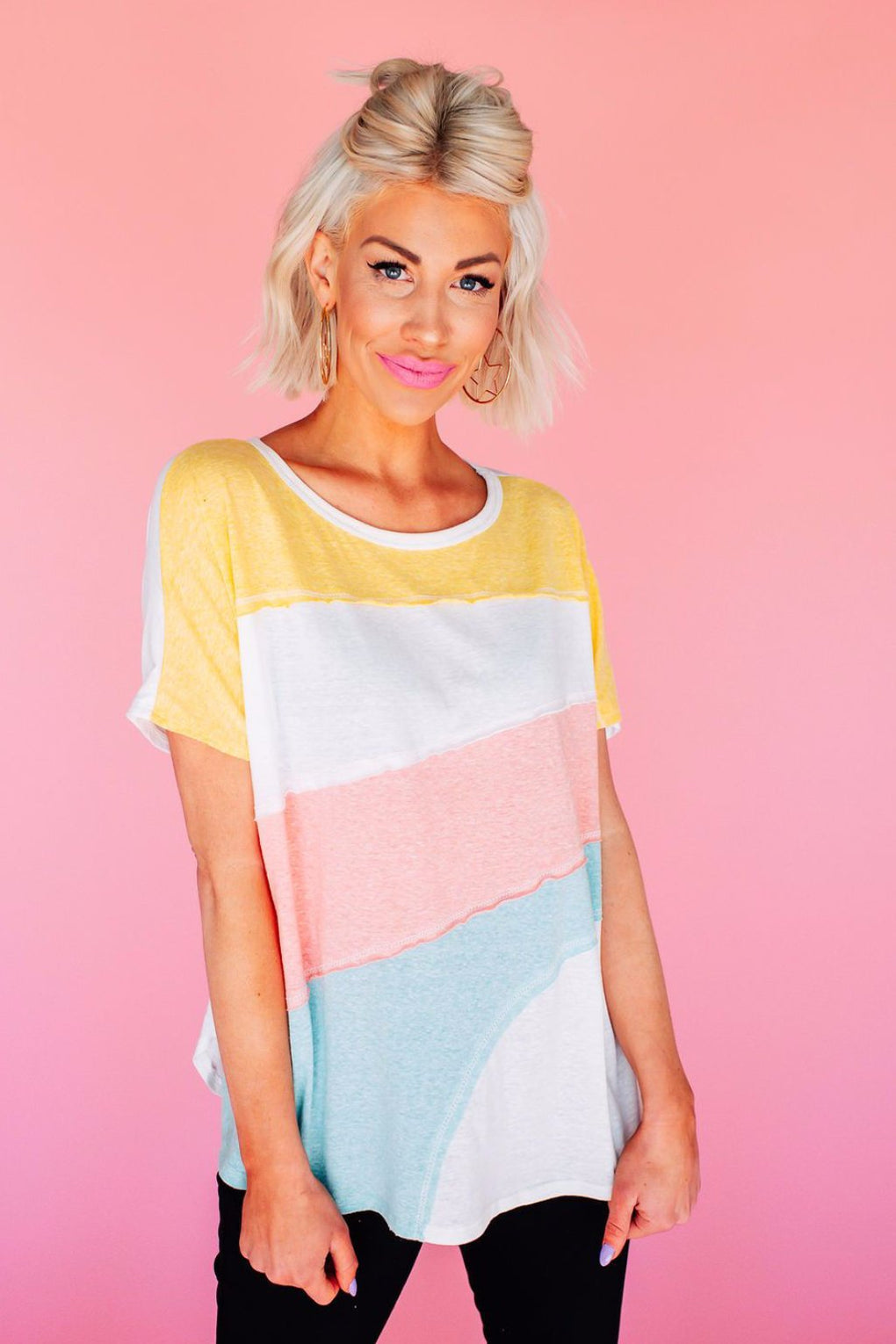 Dream Girl Pastel Striped Tee