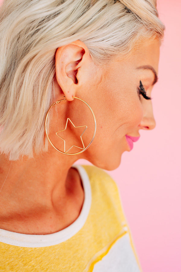 Star Girl Hoop Earrings