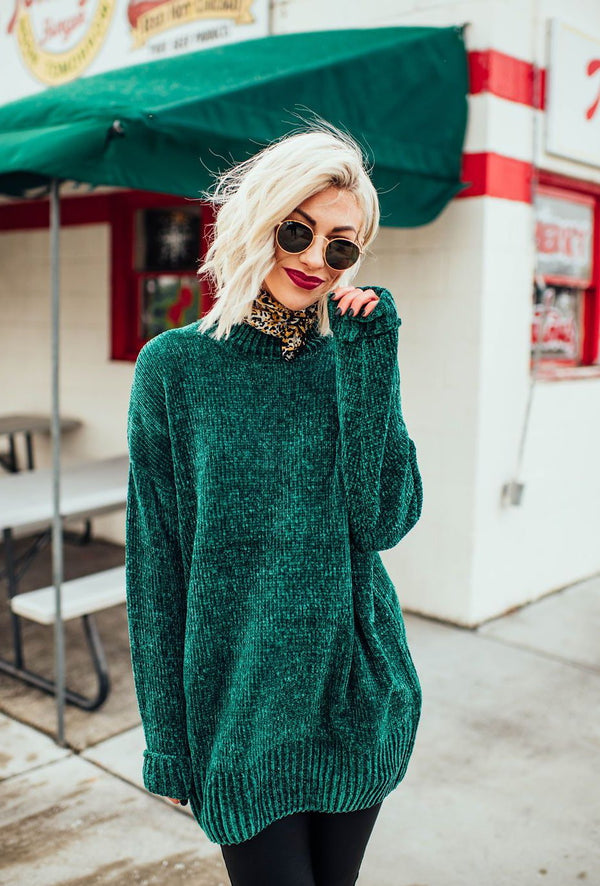 Lennon Knit Sweater (Emerald)