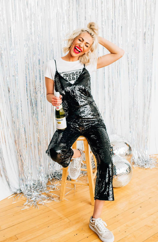 Don't Give A Glam Sequin Jumpsuit