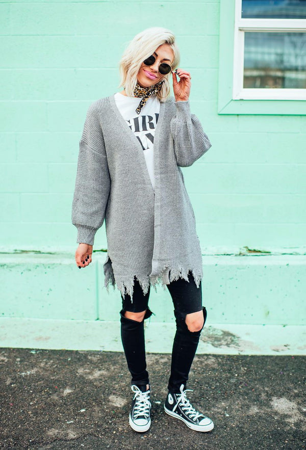 West Coast Distressed Cardigan