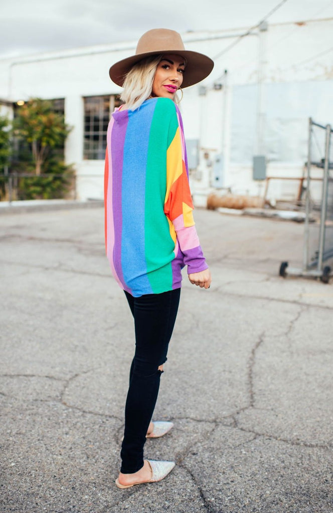 Rainbow Wonderland Knit Dolman