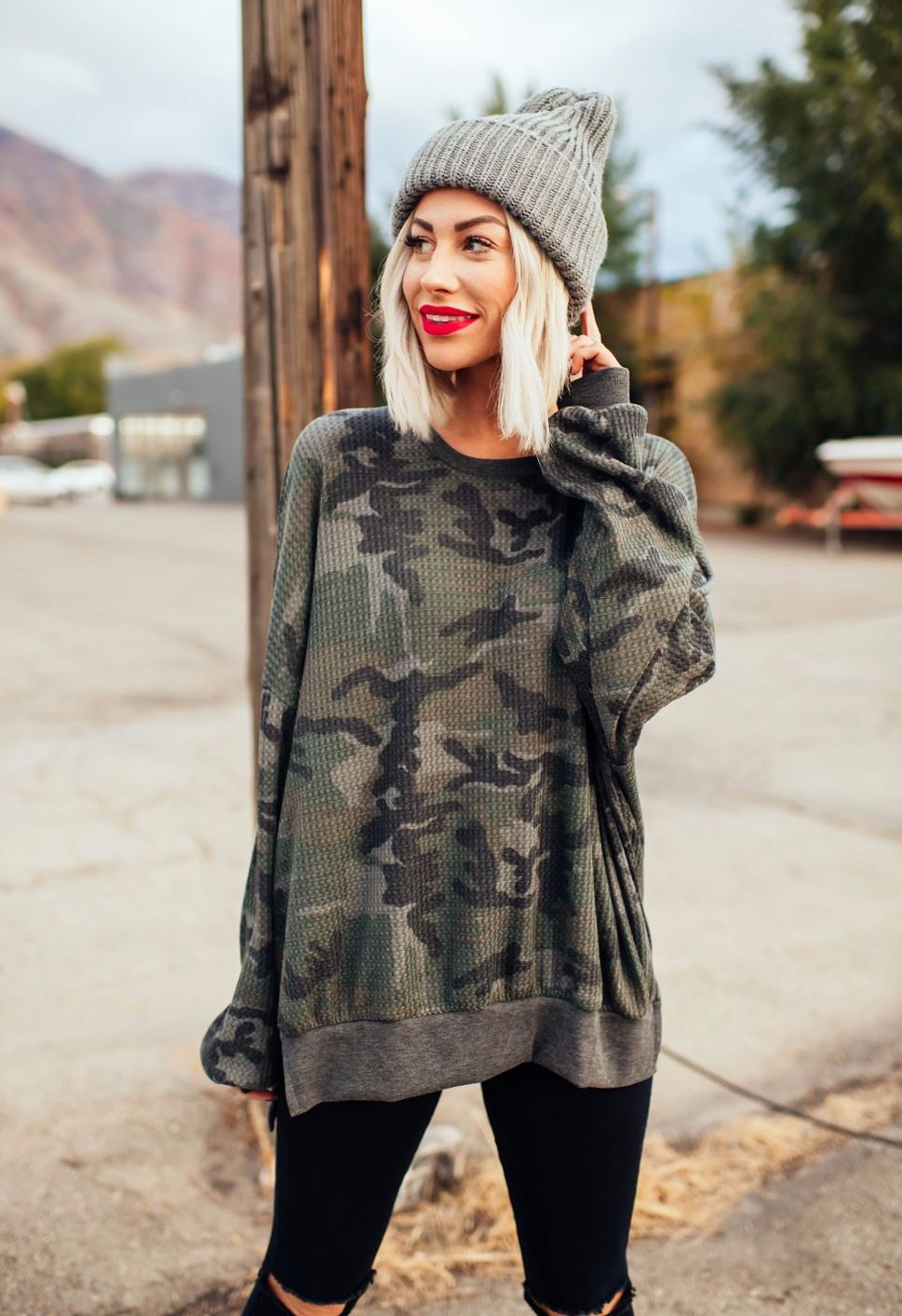 Camo Always Pullover