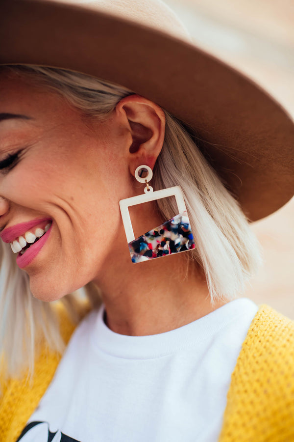 Modern Moxie Square Earrings
