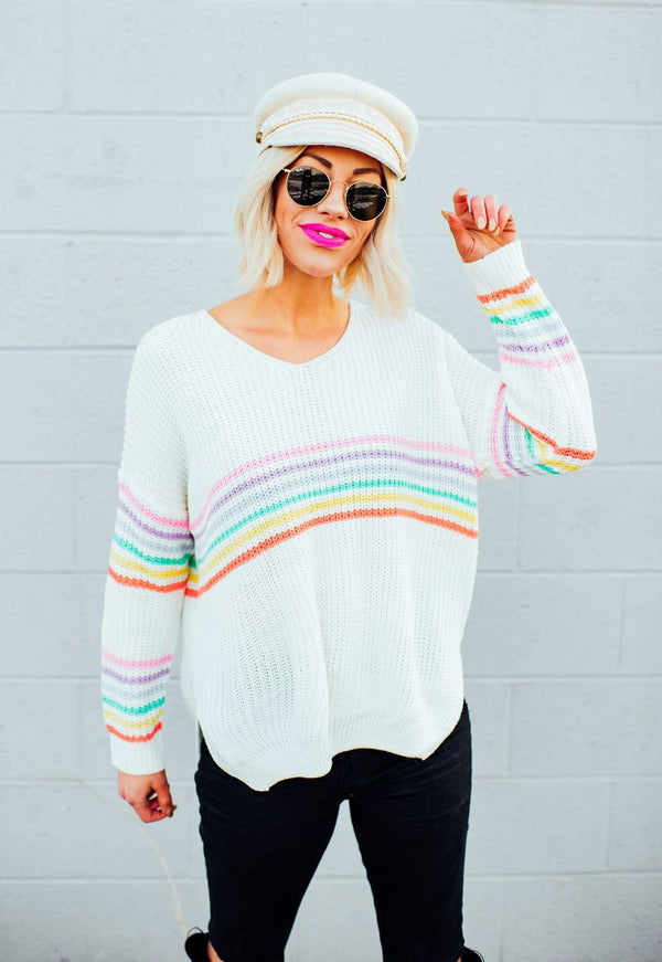 Dream Chasin' Rainbow Knit