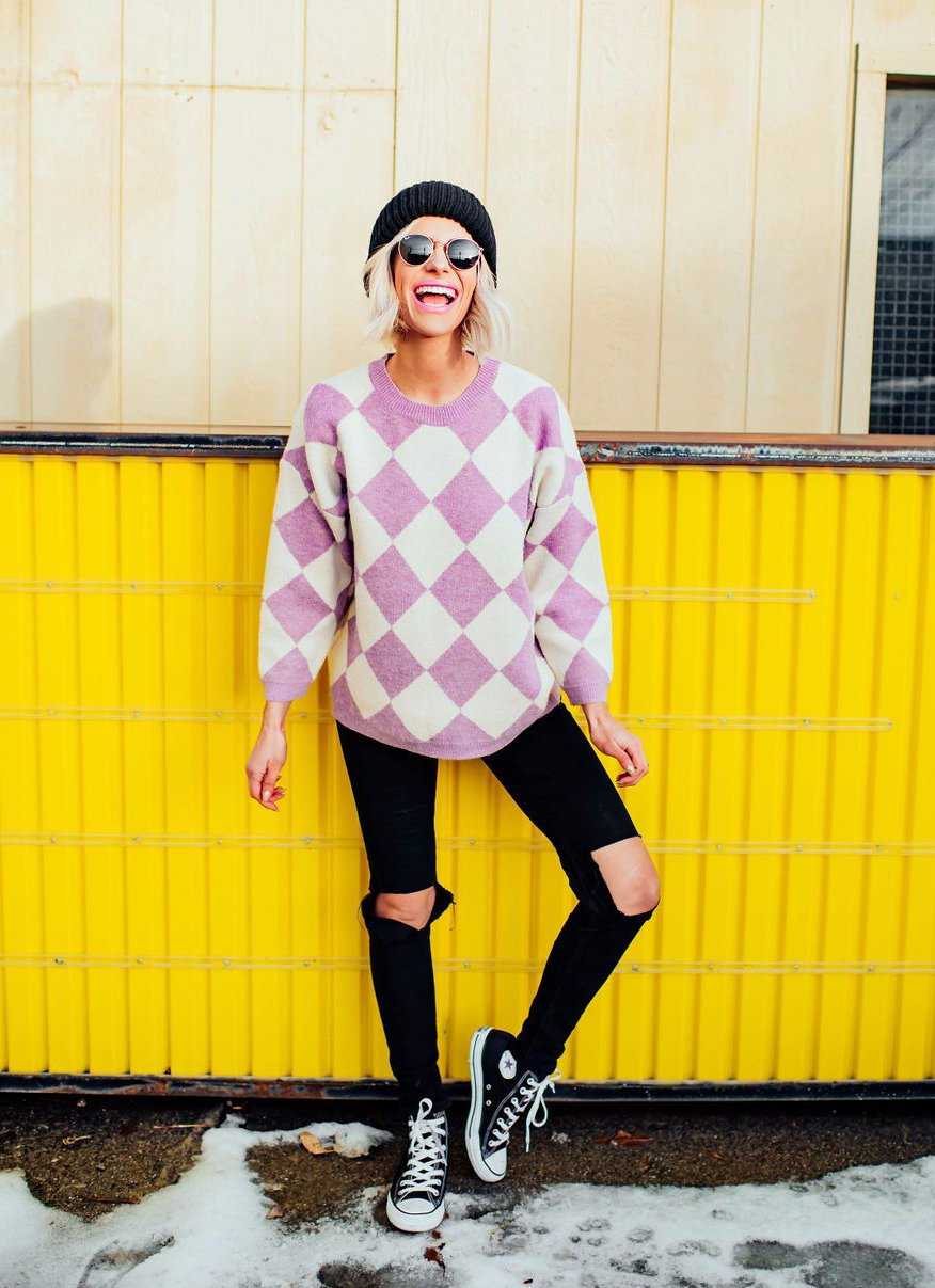 Checkered Love Sweater
