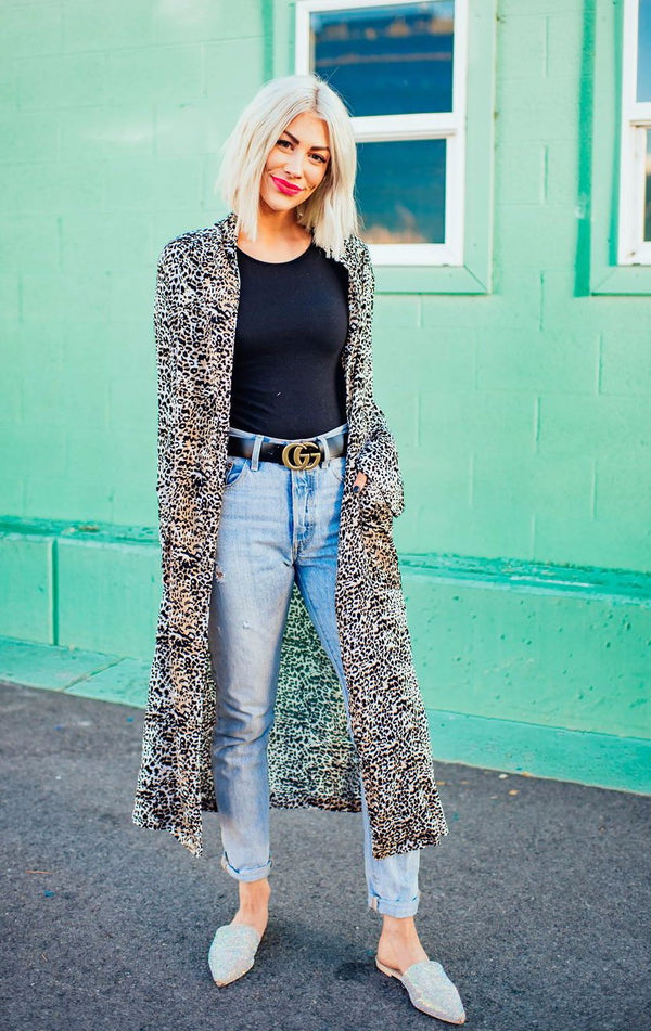 Chic Queen Leopard Duster