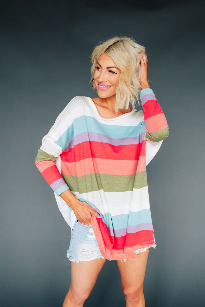 All The Colors Striped Pullover