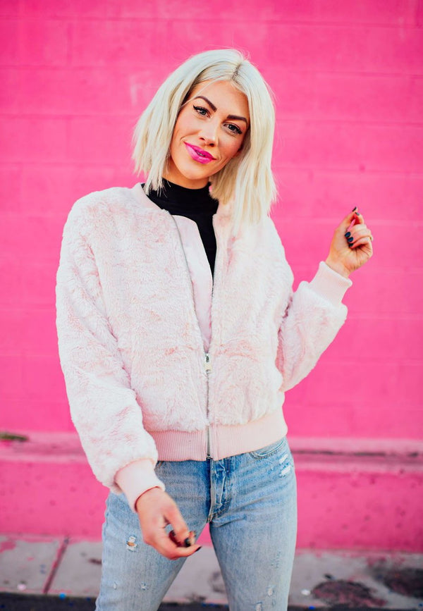 Baby Spice Faux Fur Bomber