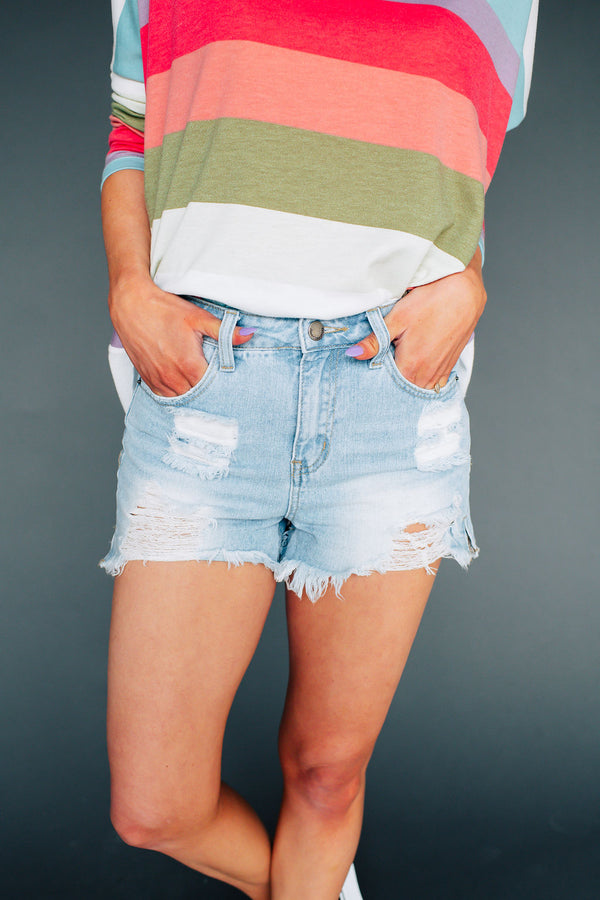 La Jolla Distressed Shorts