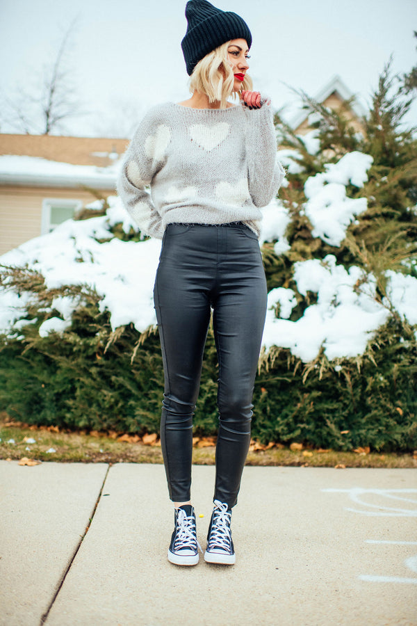 Skinny Vegan Leather Pants