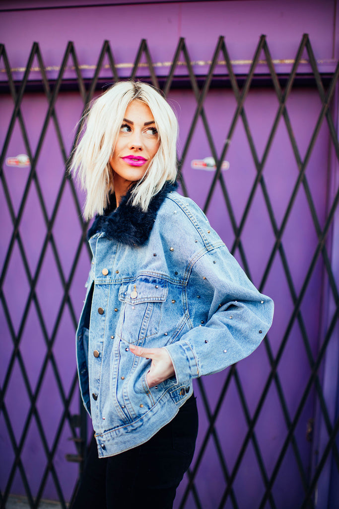 Haven Studded Denim Jacket