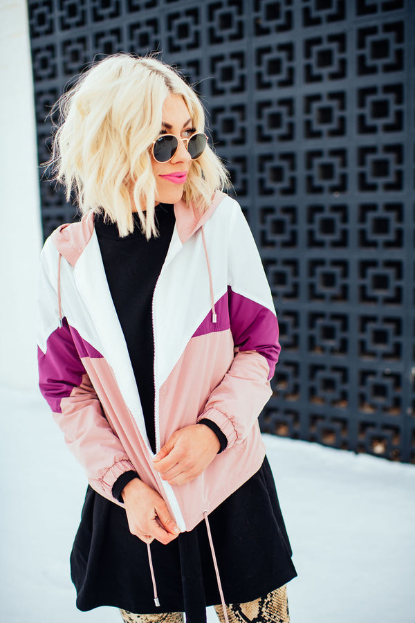 Ziggy Dusty Pink Windbreaker