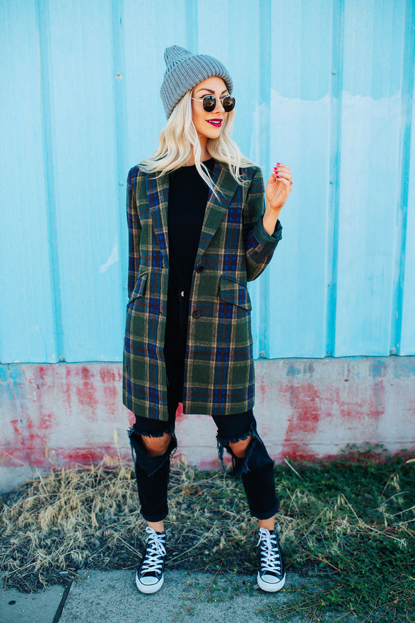 Greenwich Wool Plaid Coat