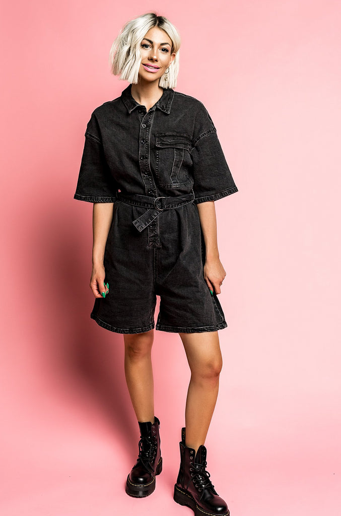 Hey Jude Denim Romper