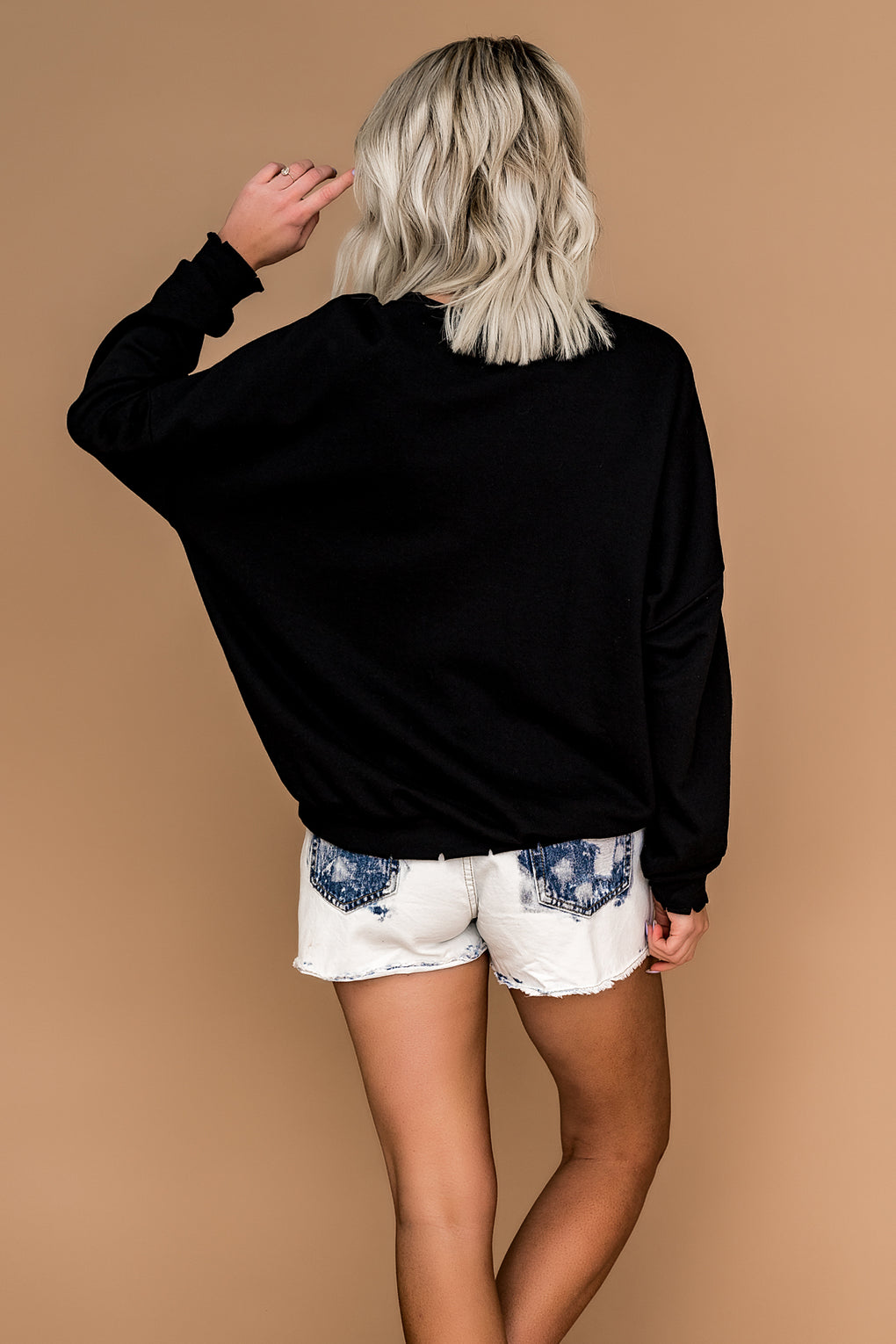 Bleached Out High-Rise Shorts