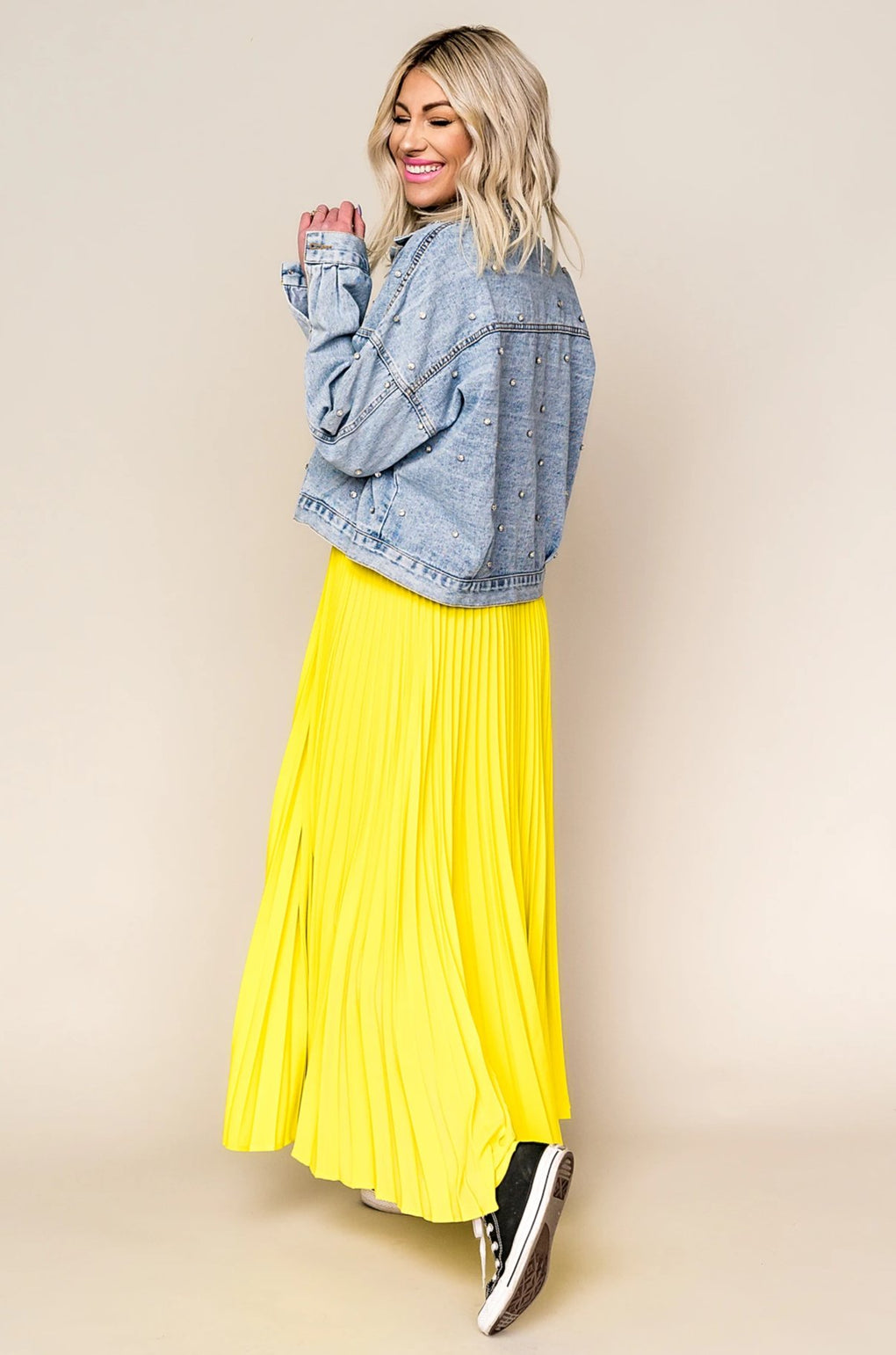 Electric Love Pleated Skirt