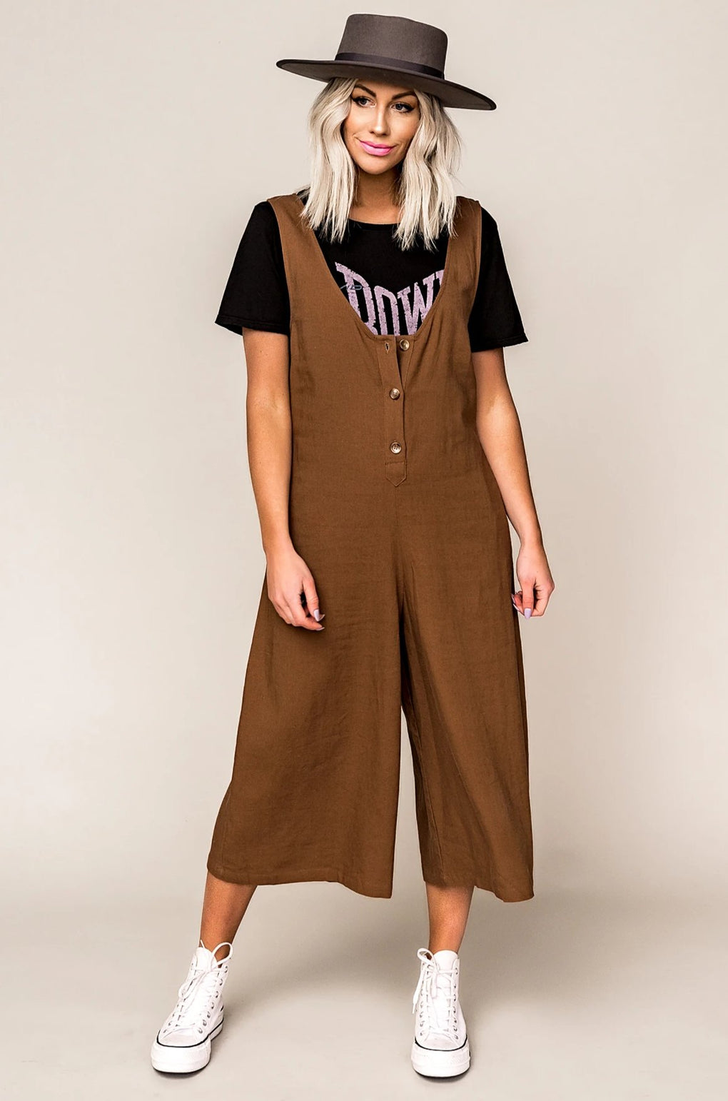 Let It Be Wide Leg Linen Jumpsuit