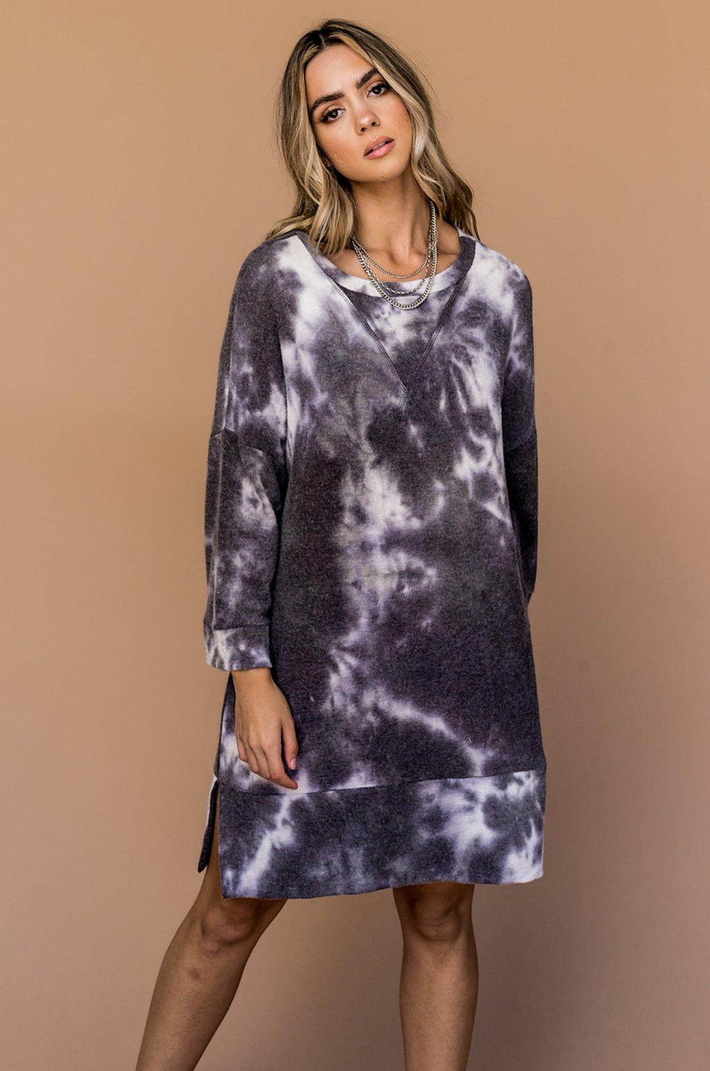 Stormy Oversized Tie Dye Dress
