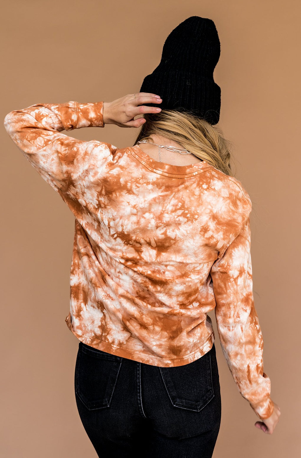 On Your Side Tie Dye Tee in Cinnamon