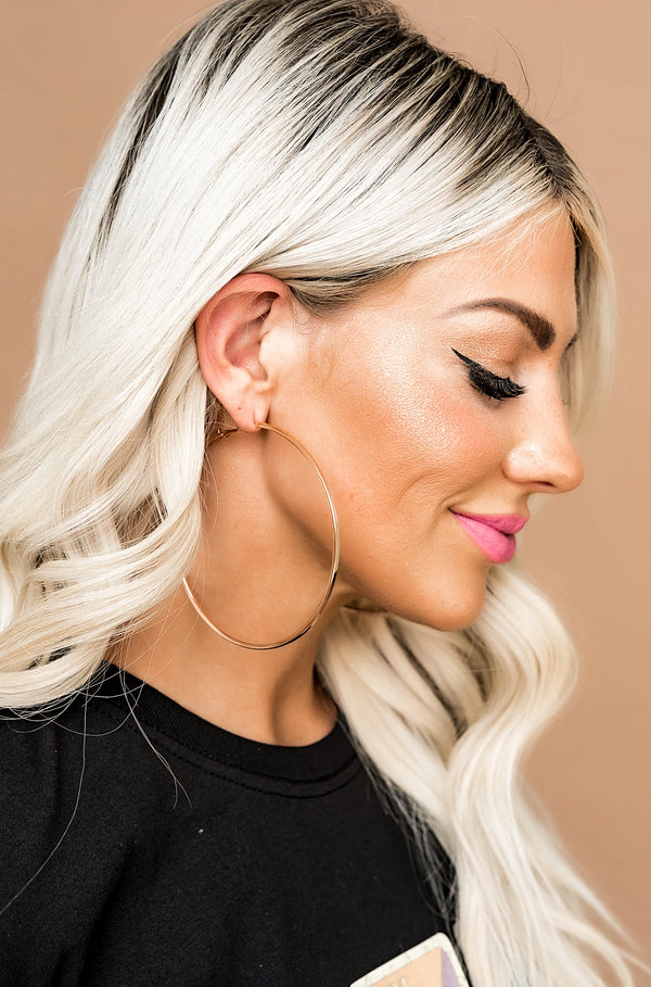 Rose Gold Forever Hoops