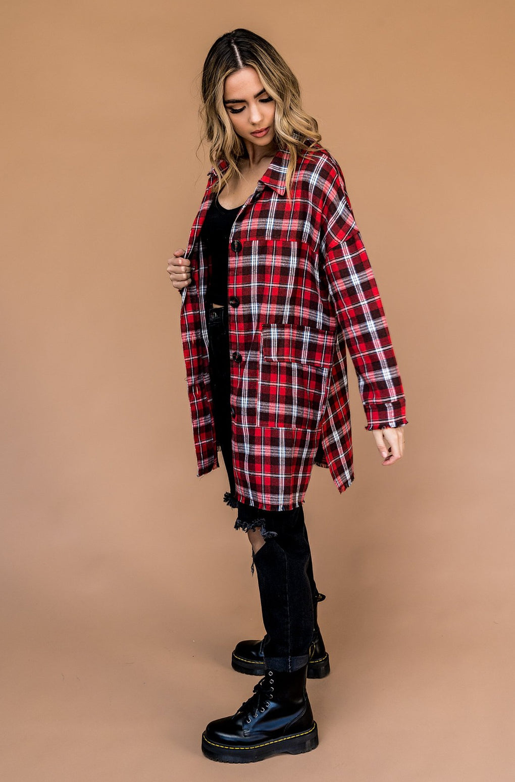 Salem Oversized Longline Flannel