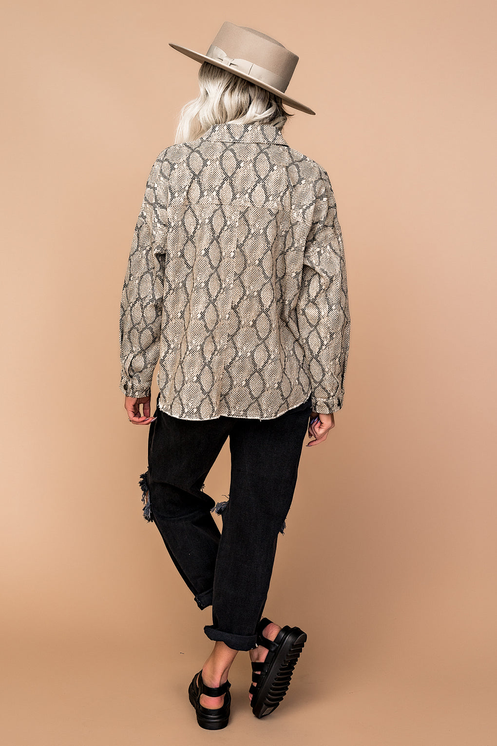 So Fine Snake Trucker Jacket