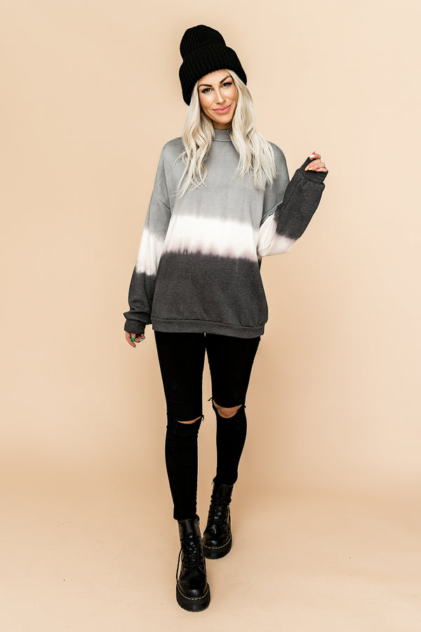 Grey Skies Ombre Pullover