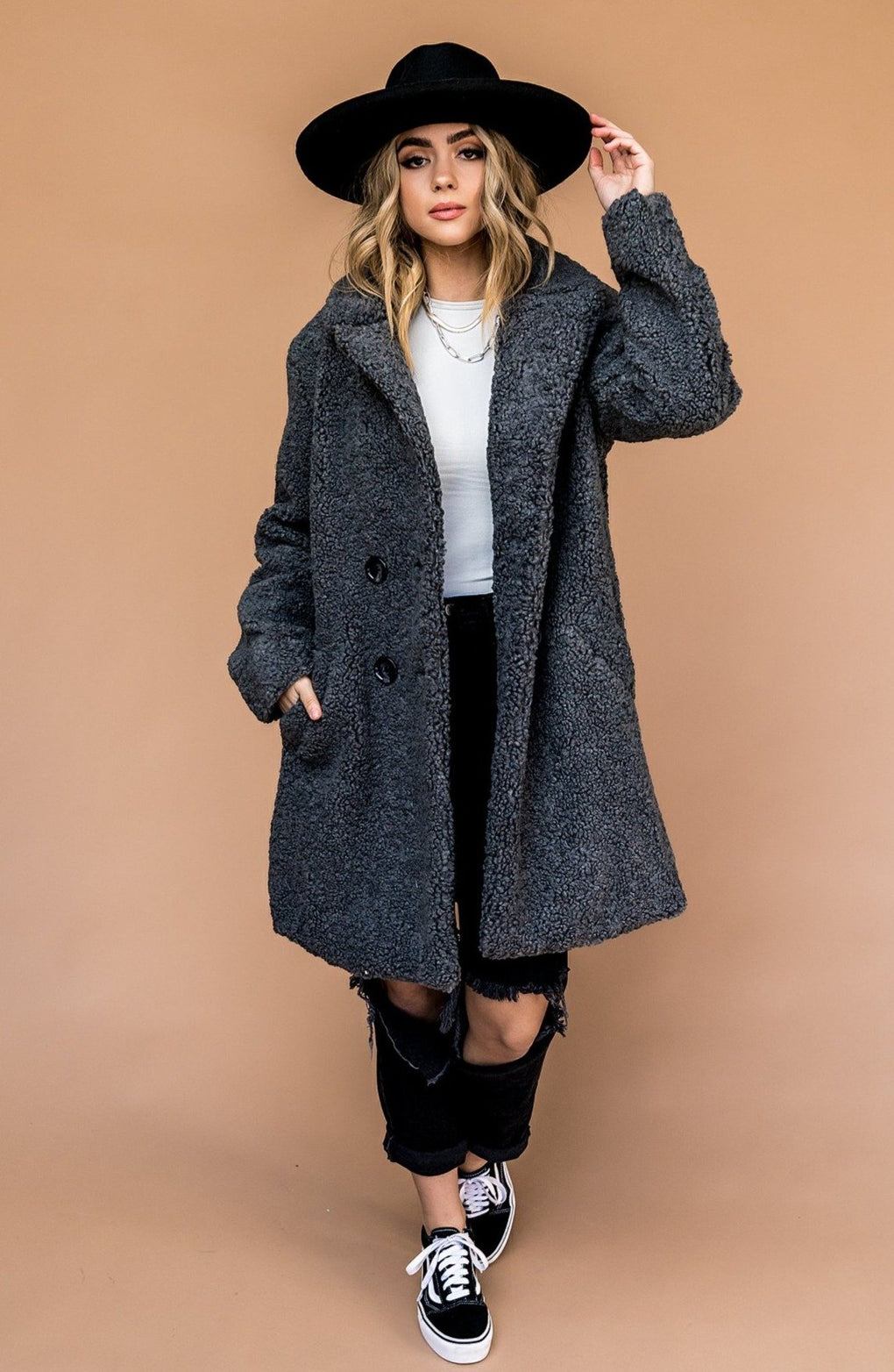 Fame and Fortune Sherpa Overcoat