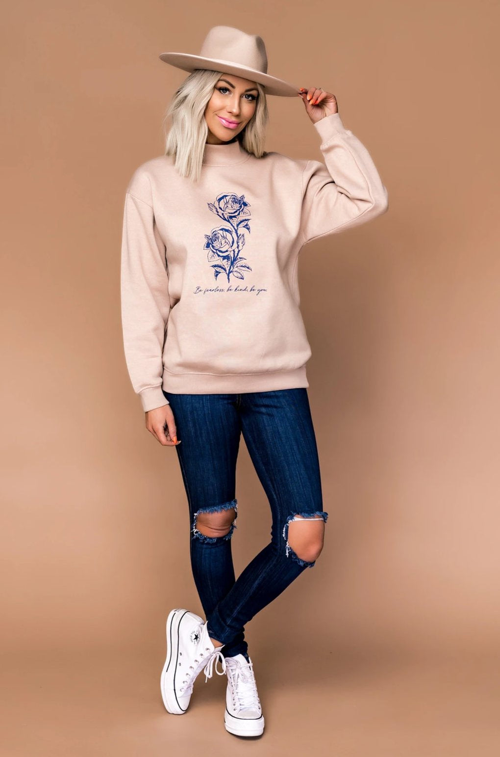 Be You Mock Neck Sweater