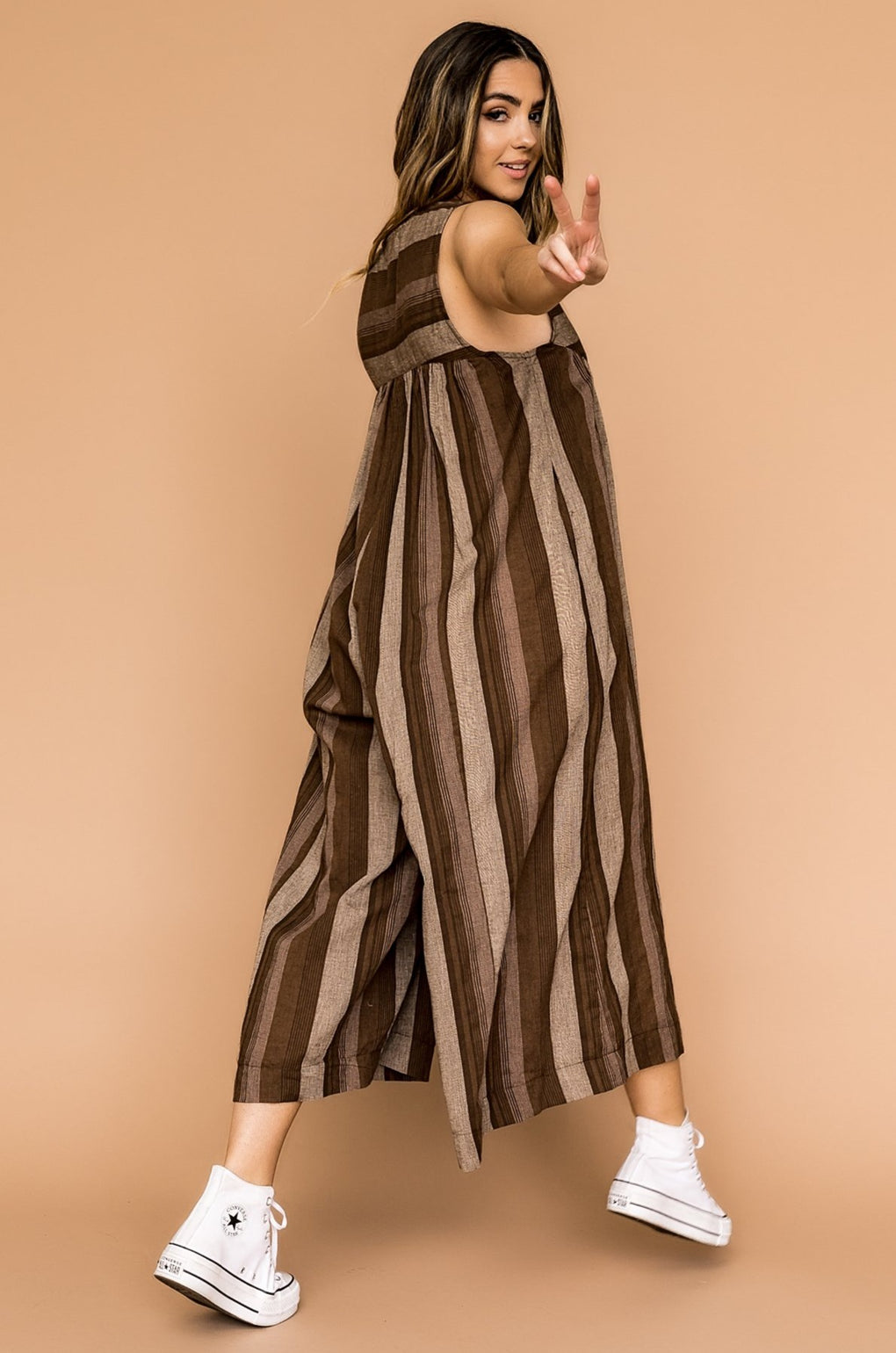 Tucson Striped Wide Leg Jumpsuit