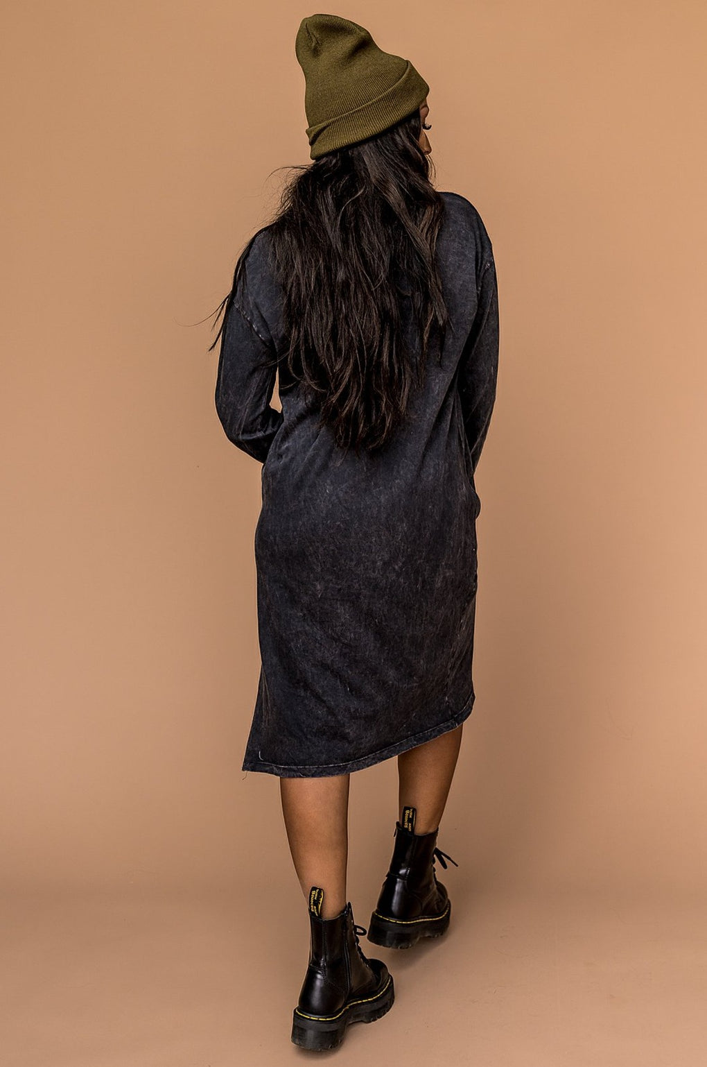 Better Off Acid Wash T-Shirt Dress