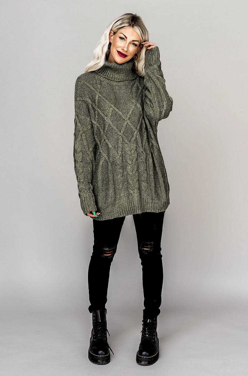 Olive You Forever Chunky Knit