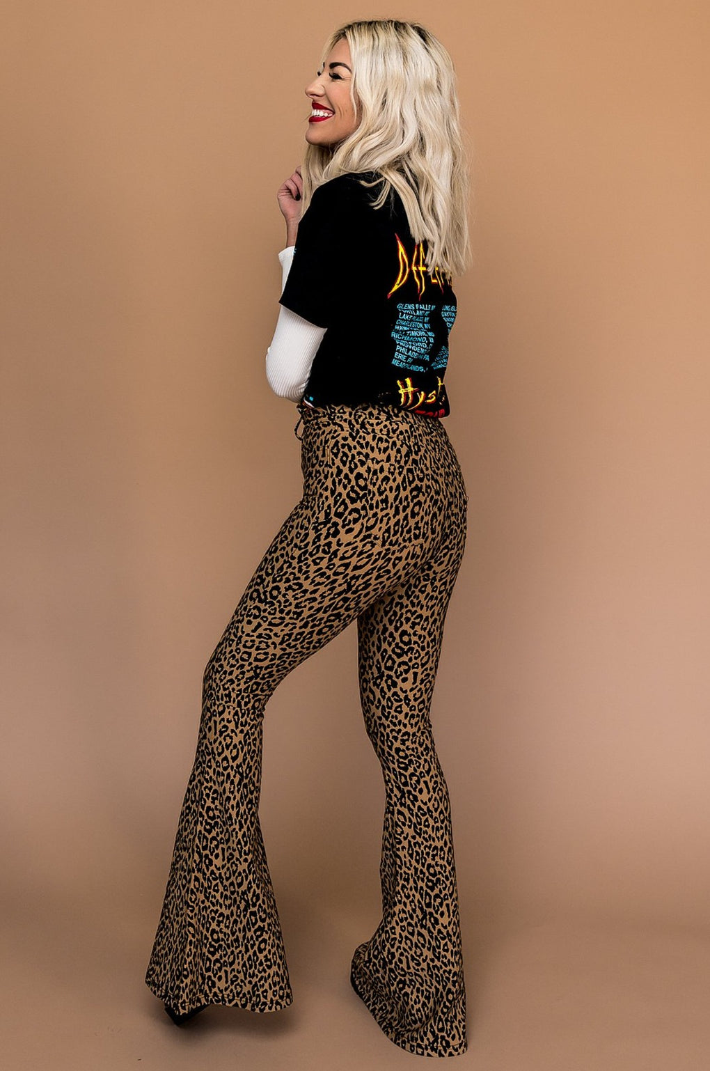 Wild One Leopard Bell Bottoms