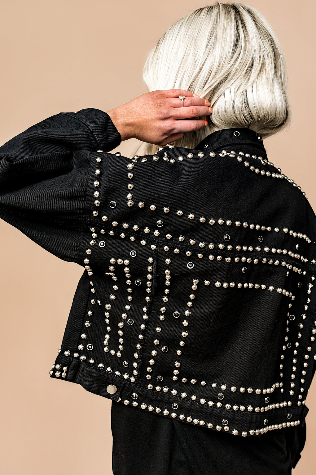 Royal Luxe Studded Denim Jacket