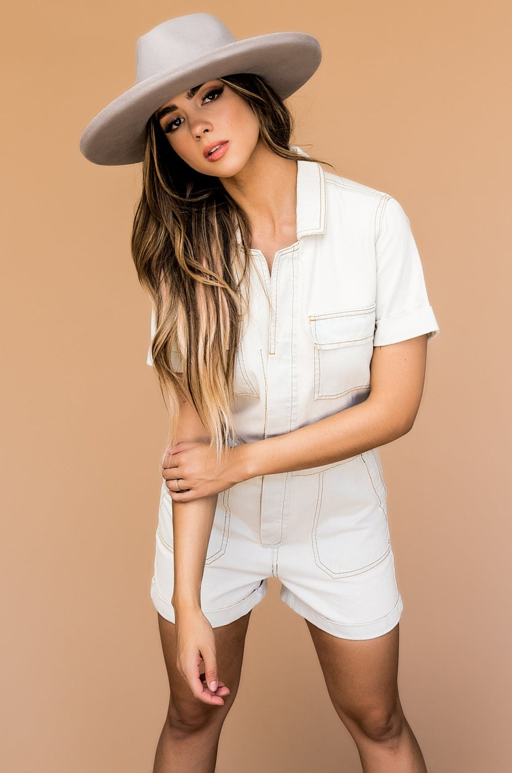 Coastal Girl Luxe Denim Romper