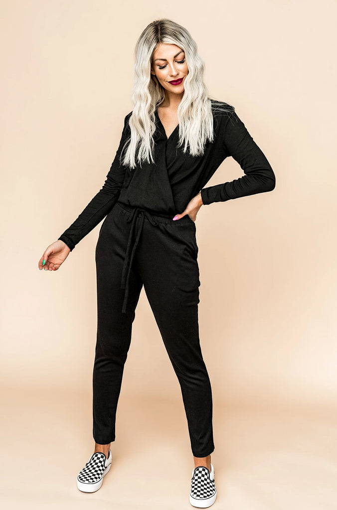 Moon and Back Black Jumpsuit